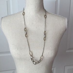 Jewelry - Silver/Gold Faux Diamond Long Necklace